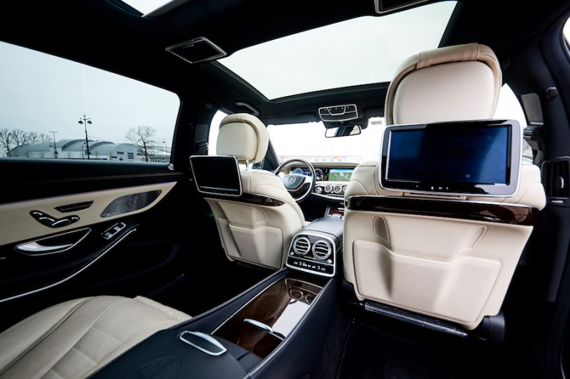 Mercedes-Maybach white interior