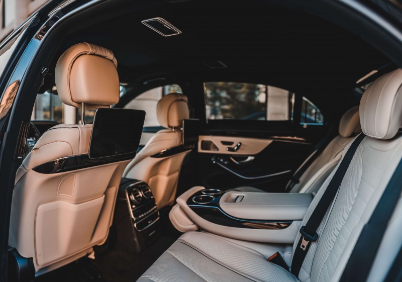 Mercedes w222 White interior restyle